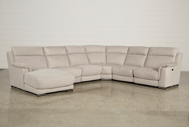 Kerwin Silver Grey 6 Piece Power Reclining Sectional W/Laf Chaise - 360