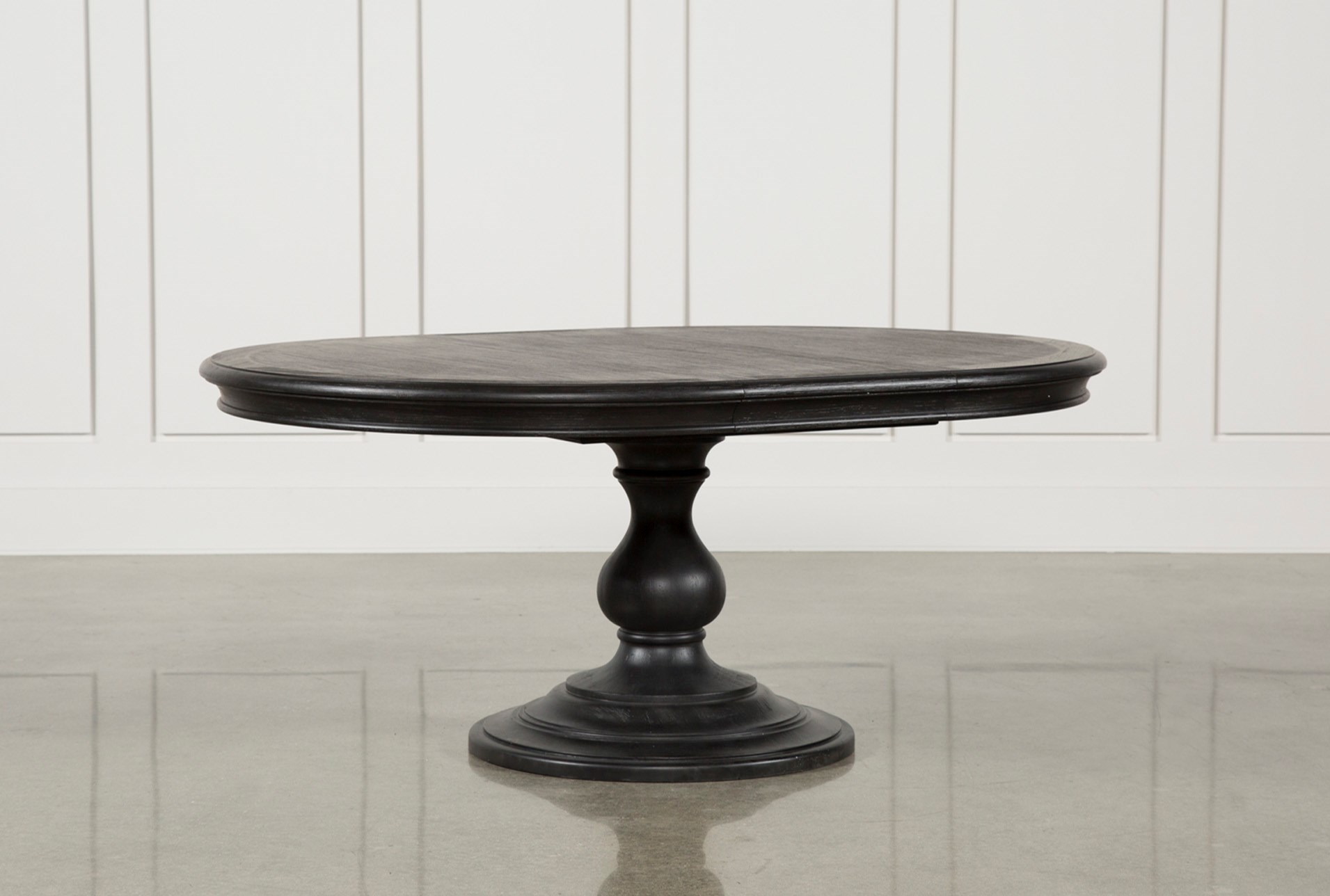 black round table. Caira Black Round Dining Table (Qty: 1) Has Been Successfully Added To Your Cart. V