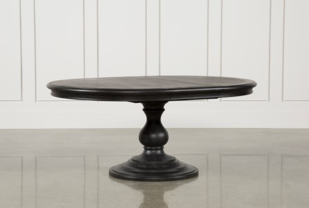 Caira Black Round Dining Table