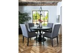 Caira Black Round Dining Table - Room