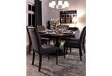 Caira Black Upholstered Side Chair - Room