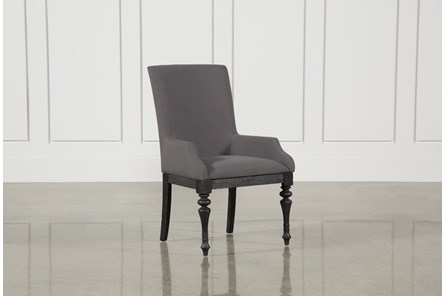 Caira Black Upholstered Arm Chair - Main