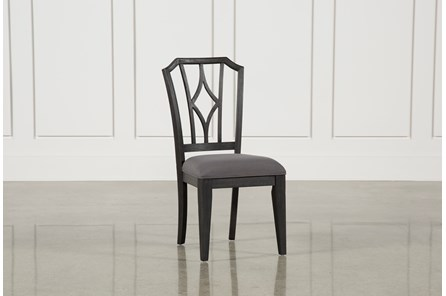 Caira Black Upholstered Diamond Back Side Chair - Main