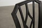 Caira Black Upholstered Diamond Back Side Chair - Top