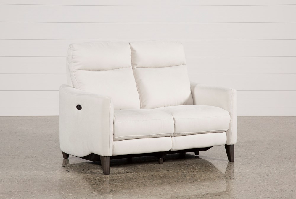 Melina Bisque Power Reclining Loveseat W/Usb