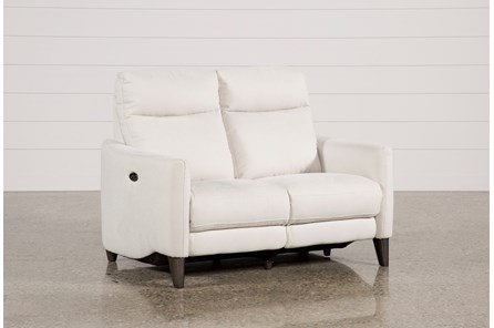 Melina Bisque Power Reclining Loveseat W/Usb - Main