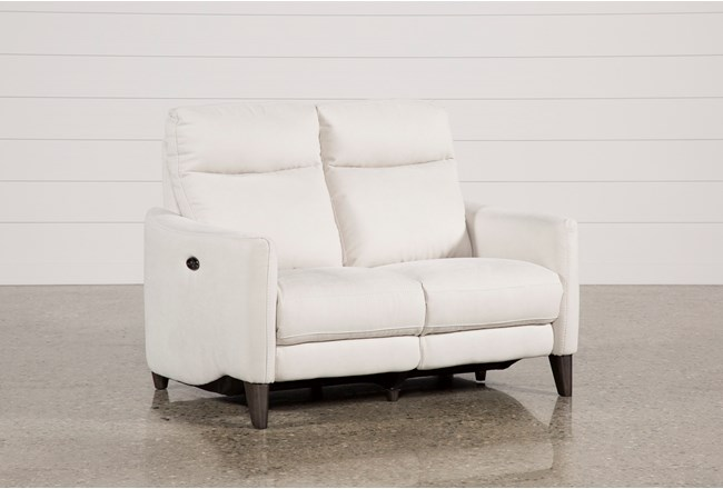 Melina Bisque Power Reclining Loveseat W/Usb - 360