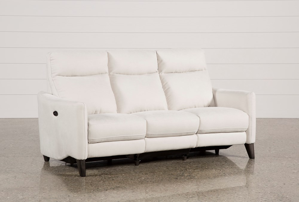 Melina Bisque Power Reclining Sofa With Usb