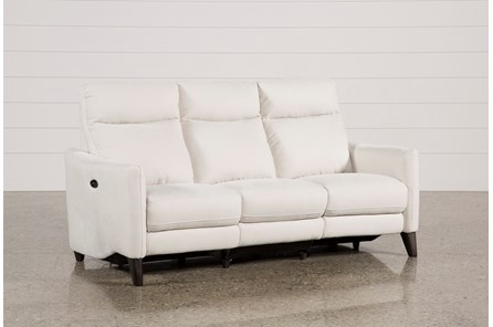 Melina Bisque Power Reclining Sofa W/Usb - Main
