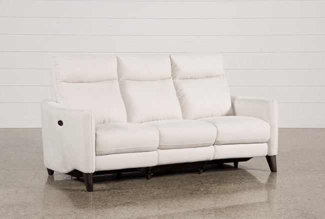 Melina Bisque Power Reclining Sofa W/Usb - 360