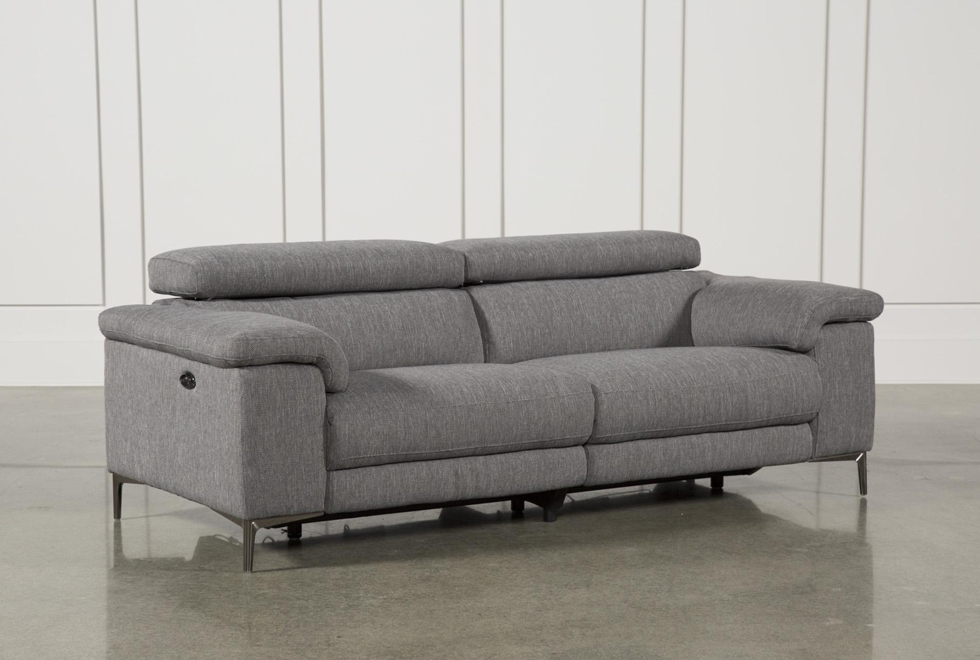 talin grey power reclining sofa w usb living spacesContemporary Rexlining Sofas #1