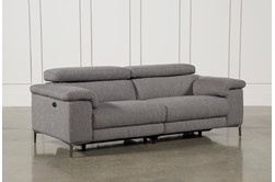 "Talin Grey 85"" Power Reclining Sofa With USB"