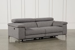 "Talin Grey 85"" Power Reclining Sofa With USB"