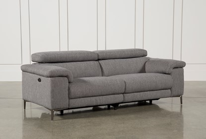 Pleasing Talin Grey Power Reclining Sofa W Usb Dailytribune Chair Design For Home Dailytribuneorg