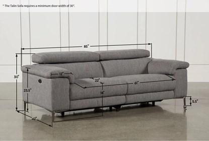 Talin Grey Reclining Sofa W Usb
