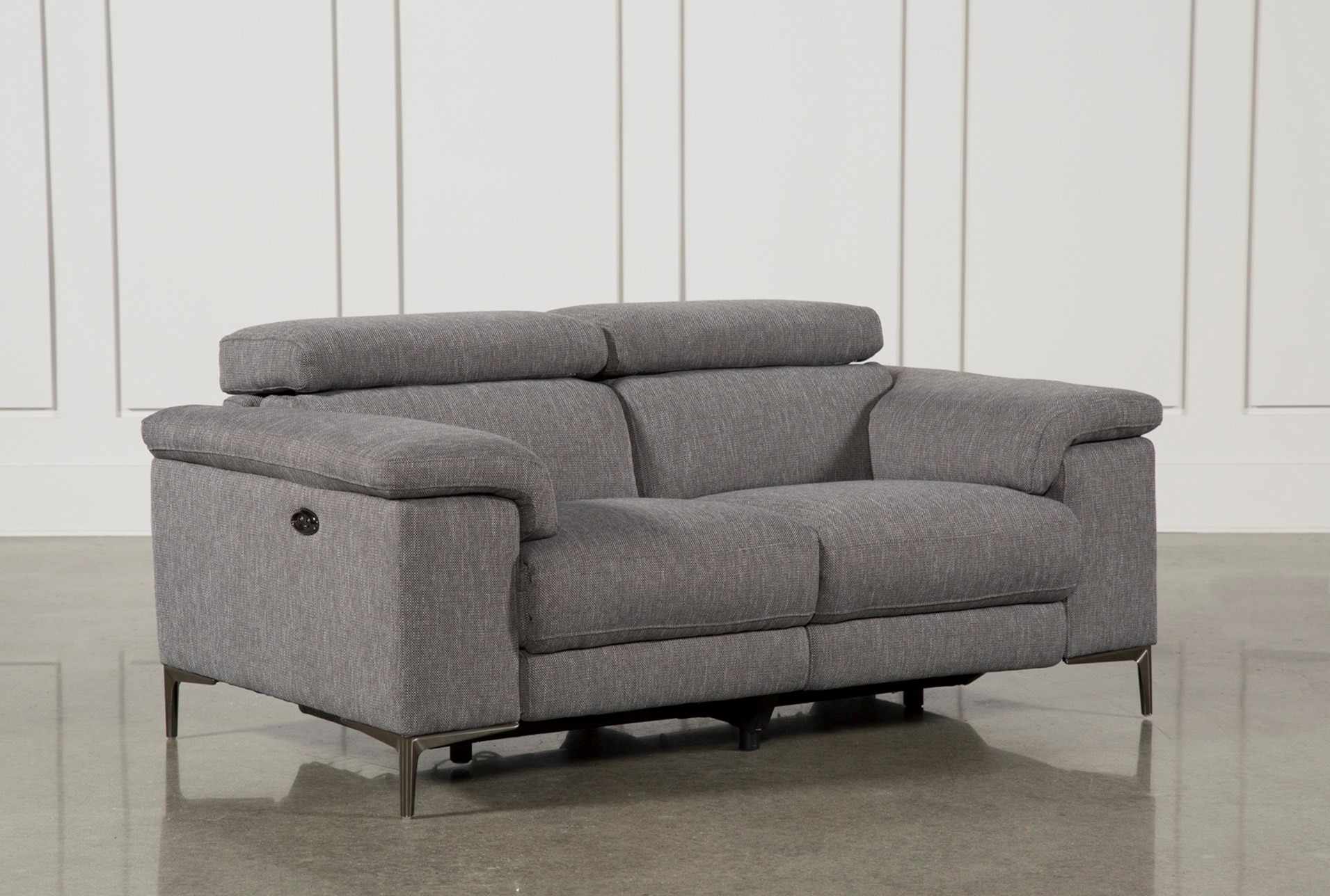 Talin Grey Power Reclining Loveseat Wusb Living Spaces