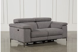 "Talin Grey 68"" Power Reclining Loveseat With USB"