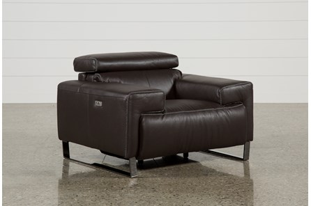 Carlo Leather Power Recliner W/Usb - Main