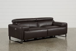 Carlo Leather Power Reclining Sofa W/Usb