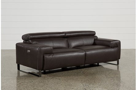 Carlo Leather Power Reclining Sofa W/Usb - Main