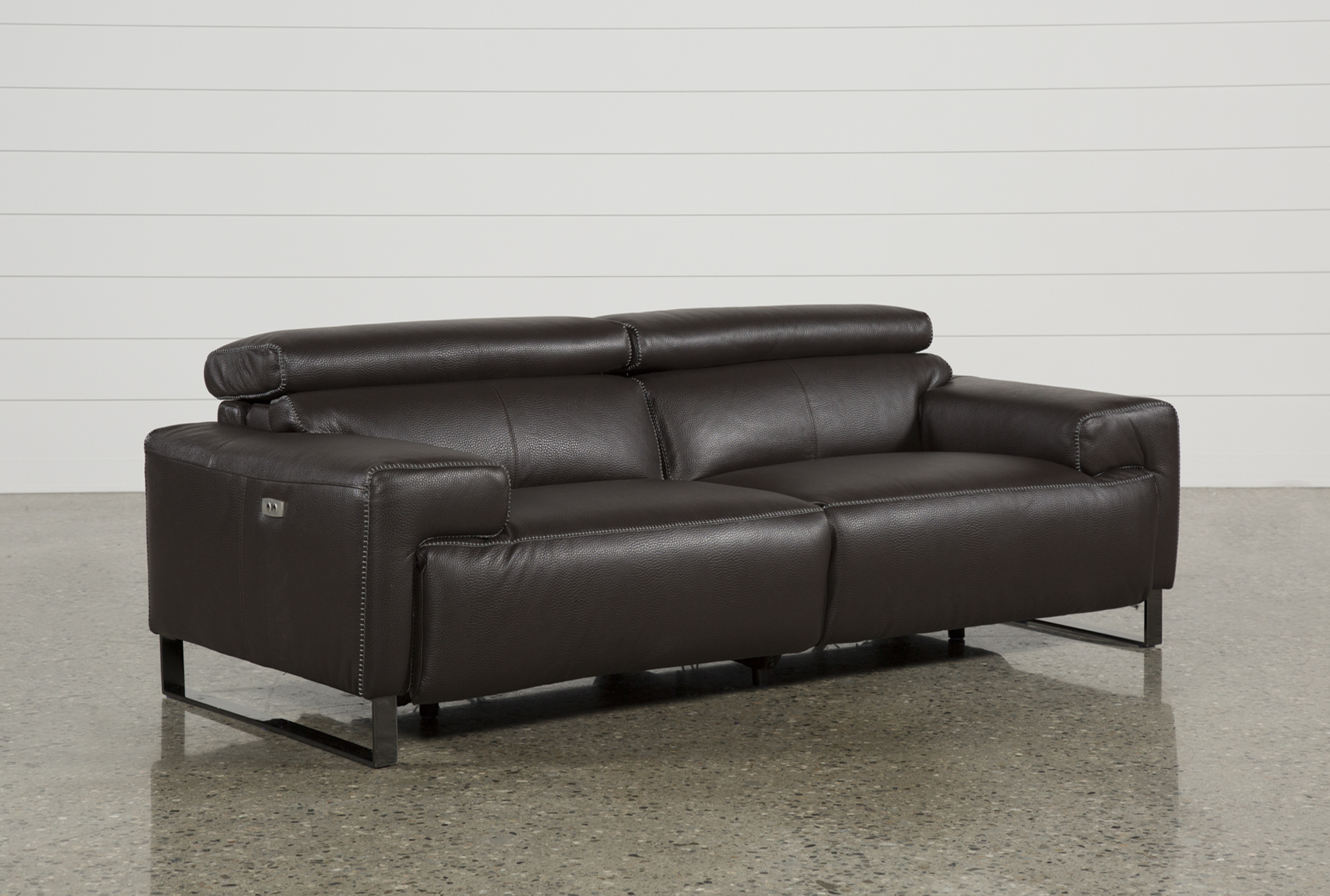 Added To Cart. Carlo Leather Power Reclining Sofa ...
