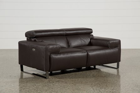 Carlo Leather Power Reclining Loveseat W/Usb