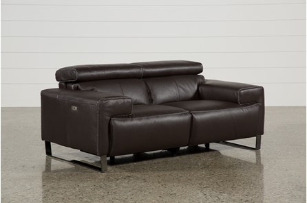 Carlo Leather Power Reclining Loveseat W/Usb - Main