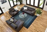 Carlo Leather Power Reclining Loveseat W/Usb - Room