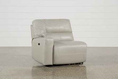 Renaldo Leather Left Facing Power Recliner W/Usb