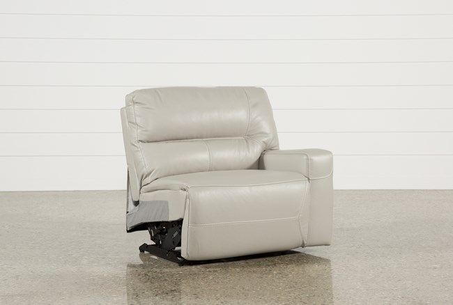 Renaldo Leather Right Facing Power Recliner W/Usb - 360