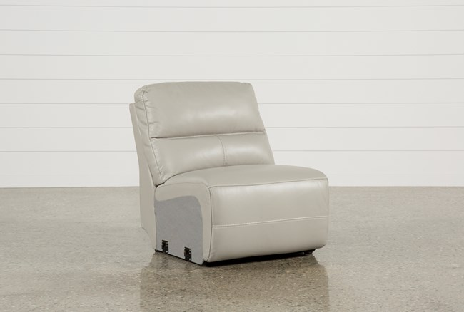 Renaldo Leather Armless Recliner - 360