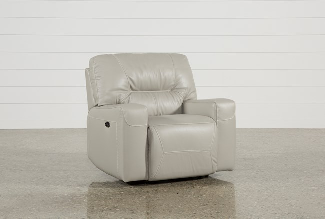 Renaldo Leather Power Recliner - 360