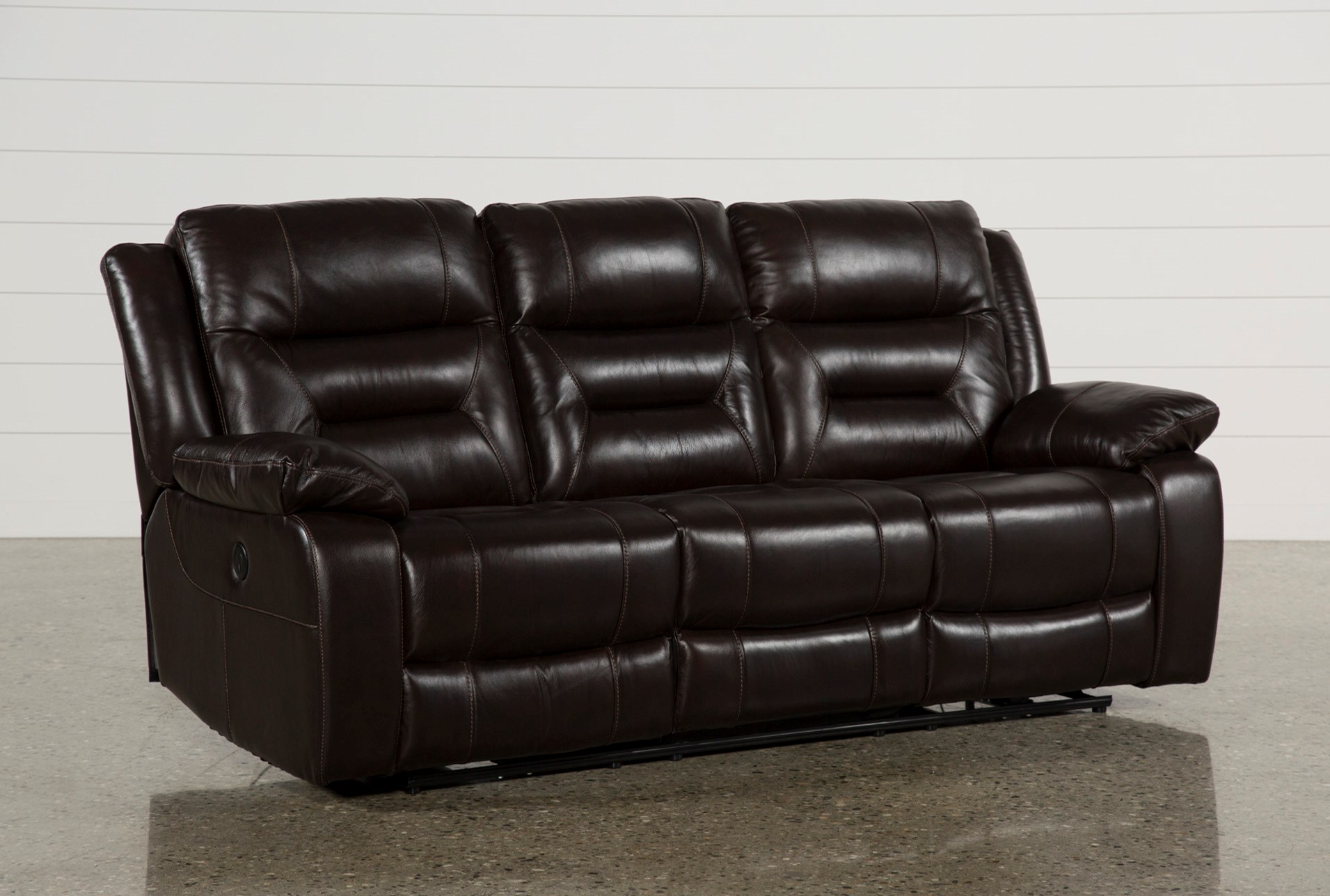 Wayne Ii Leather Power Reclining Sofa W Usb Living Spaces ~ Motorized Reclining Sofa