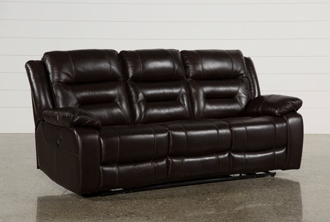 Wayne II Leather Power Reclining Sofa W/Usb - 360