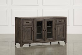 Valencia 60 Inch TV Stand With Glass Doors