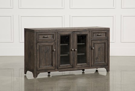 Valencia 60 Inch TV Stand With Glass Doors - Main