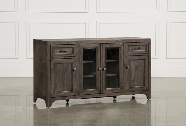 Valencia 60 Inch TV Stand With Glass Doors - 360