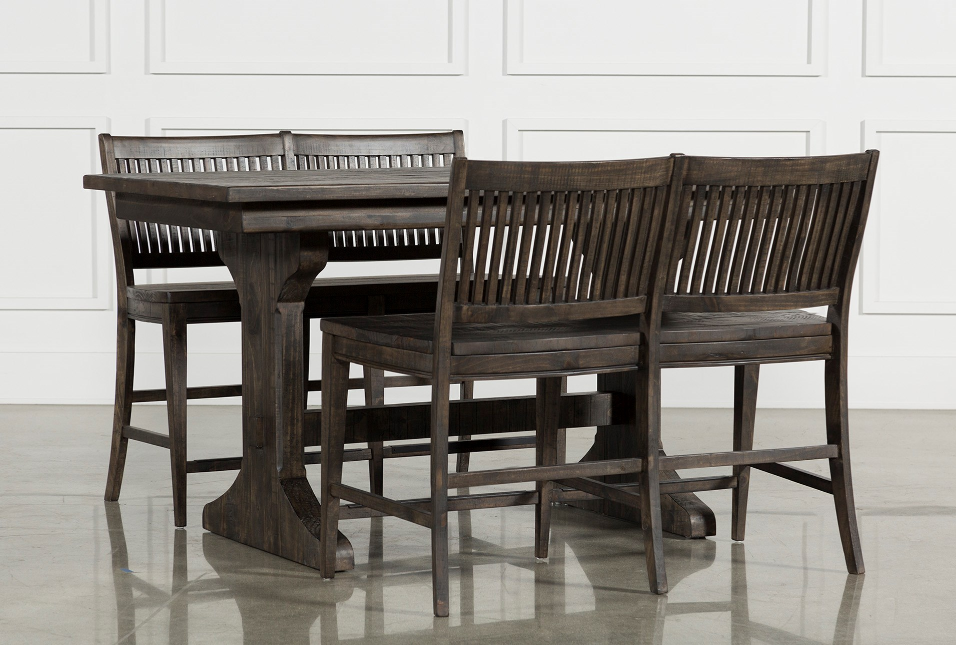 Peachy Valencia 3 Piece Counter Set W Bench Gmtry Best Dining Table And Chair Ideas Images Gmtryco