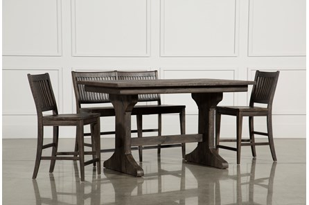 Valencia 4 Piece Counter Set W/Bench & Counter Stool