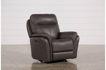 Bowie Leather Power Gliding Recliner With Power Headrest