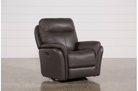 Bowie Leather Power Gliding Recliner W/Power Headrest - Main