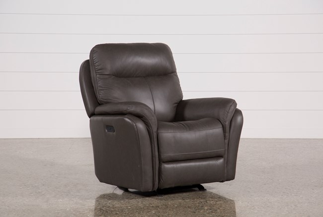 Bowie Leather Power Gliding Recliner With Power Headrest - 360