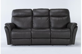 """Bowie Leather 85"""" Power Reclining Sofa With Power Headrest"""