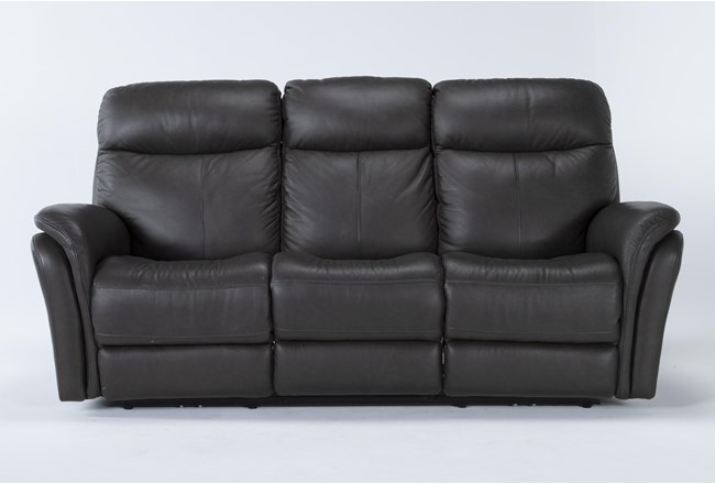 """Bowie Leather 85"""" Power Reclining Sofa With Power Headrest - 360"""