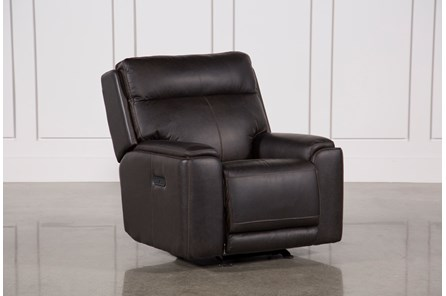 Sinjin Leather Power Gliding Recliner W/Power Headrest - Main