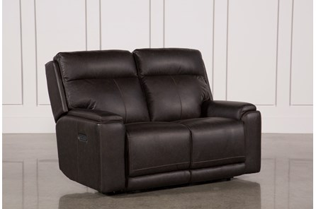 Sinjin Leather Power Reclining Loveseat W/Power Headrest - Main