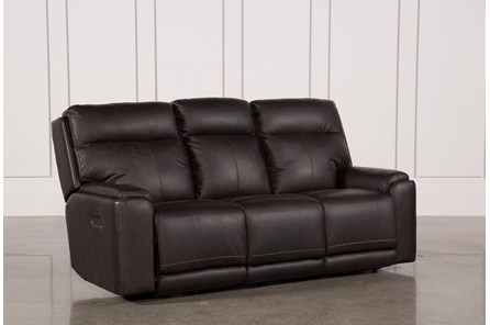 Sinjin Leather Power Reclining Sofa W/Power Headrest - Main
