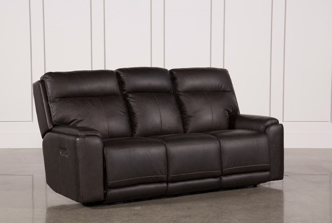 Sinjin Leather Power Reclining Sofa W/Power Headrest - 360