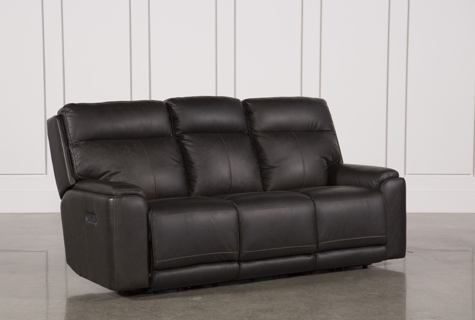Sinjin Leather Power Reclining Sofa W/Power Headrest (Qty: 1) Has Been  Successfully Added To Your Cart.