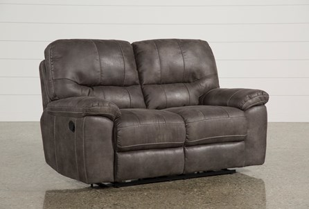 Neve Grey Reclining Loveseat